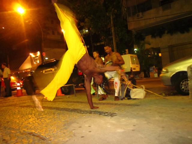 Capoeira street dancers in Rio