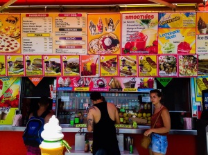 Some lunch options on Venice Beach boardwalk